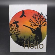 AZSG Hunter hunting Cutting Mold DIY Scrapbook Album Decoration Supplies Clear Stamp Paper Card