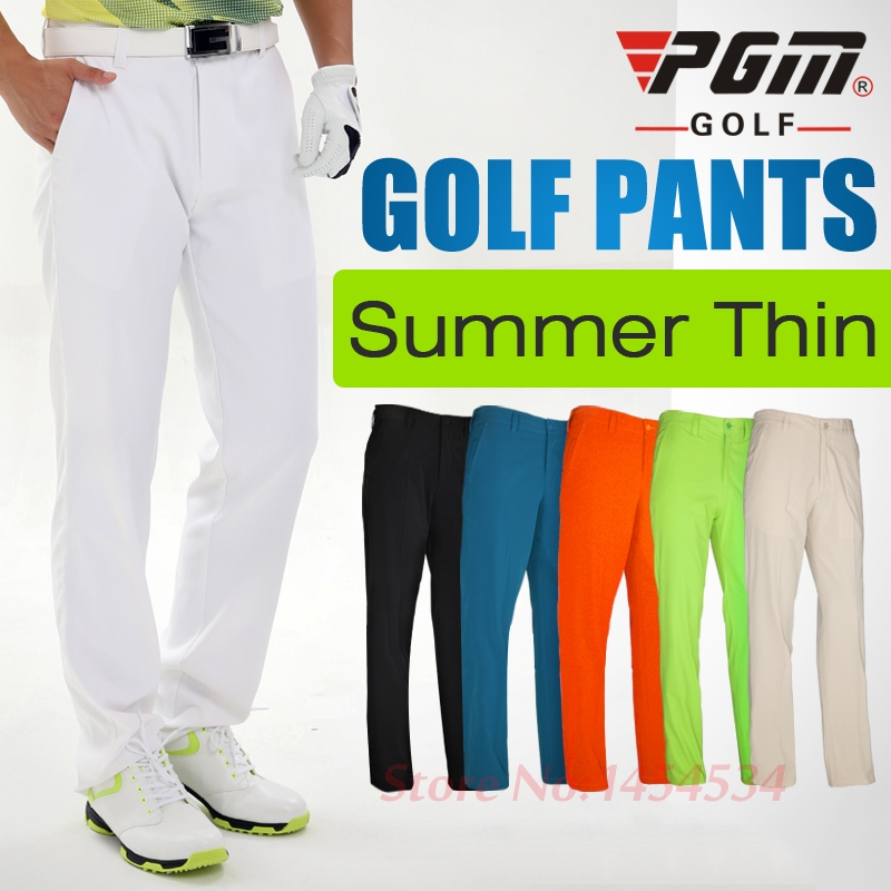 Mens Sportswear Slim Pants Full Size Waterproof Thin Summer Clothes Straight Trousers PGM Golf /Tennis Casual Long Pant Dry Fit