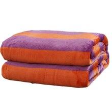 Домашний текстиль коралловый флис фланелевые простыни полиэстер теплые покрывало для взрослых королева король Размеры Зима мягкий плед Одеяла на кровать