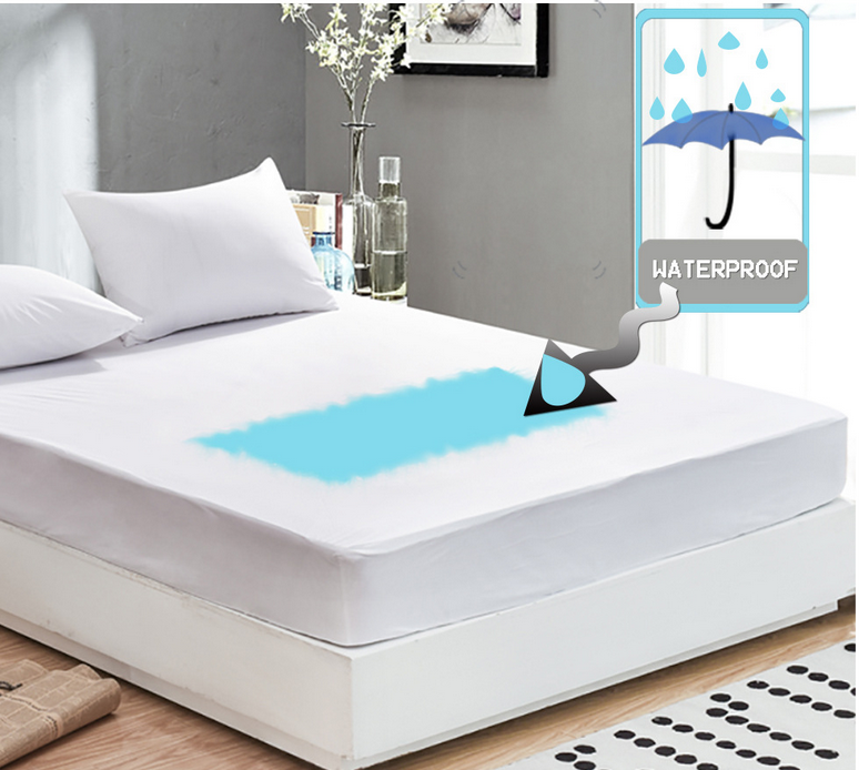 Waterproof Hypoallergenic Mattress Cover 180x200cm 150x200cm Queen King Bed Bug Mite Resistant Bedspread Protector White ...