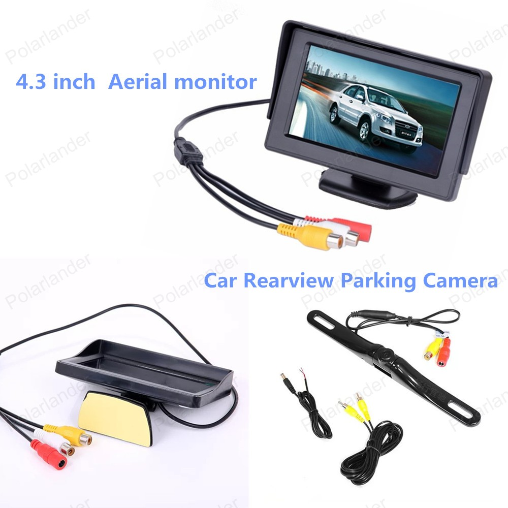 In-dash 4.3 Inch Aerial TFT LCD FPV HD Display Screen Car Rear View Monitor DC 12V  + reverse parking camera ,free shipping