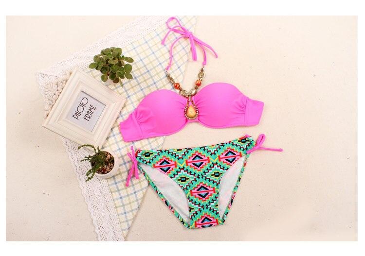 Beauty Bandeau Bra Push Up Bikini Set 5