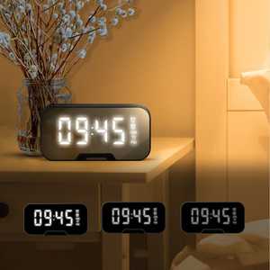 Image 5 - Sem fio bluetooth alto falante pequeno casa ao ar livre portátil dinheiro coleção alerta de voz despertador rádio alto falante estéreo