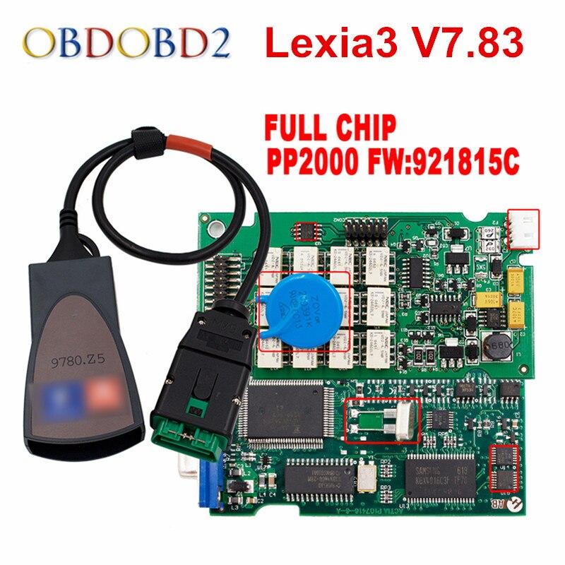 Новейший Diagbox V7.83 Lexia3 PP2000 прошивки 921815C Лексия 3 для Citroen peugeot автомобиля диагностический инструмент Бесплатная доставка