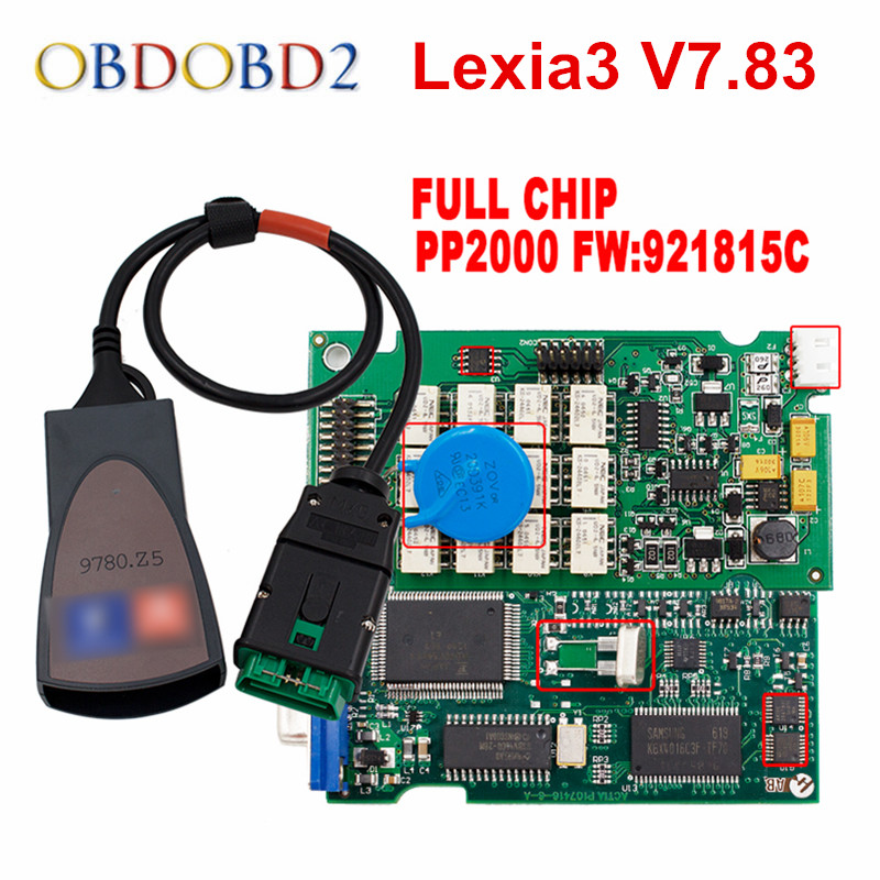 Newest Diagbox V7.83 Lexia3 PP2000 Firmware 921815C Lexia 3 For Citroen For Peugeot Car Diagnostic Tool Free Ship
