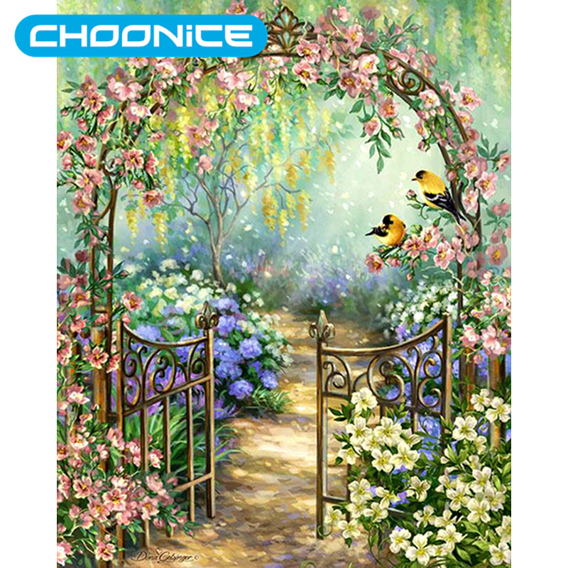 Diamond Painting Nature DIY 3D Diamond Embroidery Garden