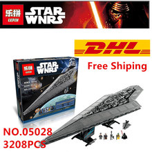 Lepin 05028 Compatible Legoed Minifigures Star Wars Brick Imperial Star Destroyer 10221 Building Blocks Model Toys For Children