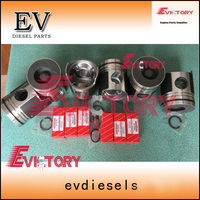 6D24 6D24T PISTON +piston pin clip for Mitsubiishi engine overhaul