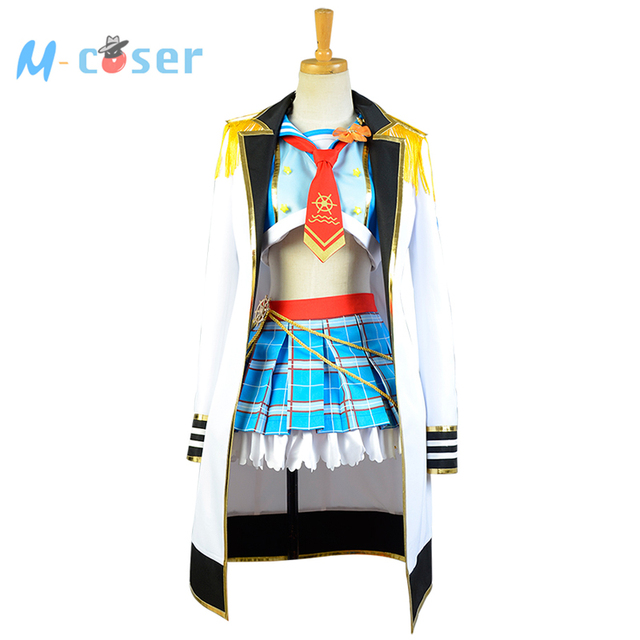 LoveLive! Love Live Hoshizora Rin Navy Costume Halloween Christmas New Year Sailor Cosplay Costumes For Women Full Set