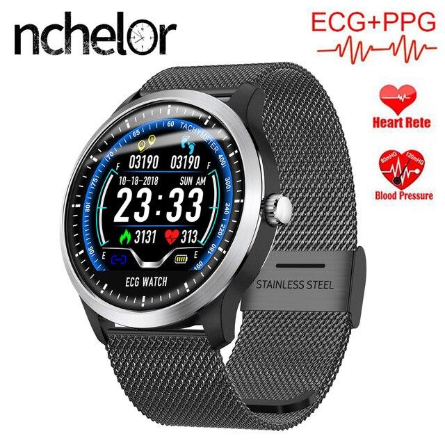 N58 ECG PPG reloj inteligente para los hombres y mujeres con corazón de  Monitor de presión d91439730414