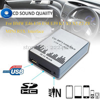 USB SD AUX MP3 Car Music Interface Player CD Changer Adapter Charger for BMW E39 X3 X5 Z4 Z8 MINI R5x 10PIN 12PIN Car Parts