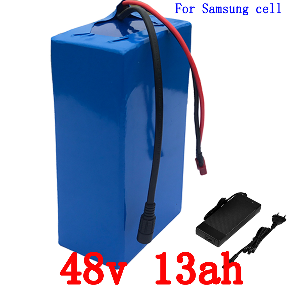 Free Shipping 48V Bicycle Battery 48V 13AH 1000W use for samsung 2600mah cell Battery with 30A BMS and 2A Charger e bike battery 48v 45ah 2400w for samsung 30b cells with 2a charger 30a bms for electric bicycle battery 48v free shipping duty