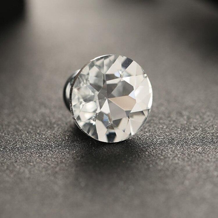 4x White Crystal Glass Knobs Diamond Shape Cupboard Drawer Pull Door Kitchen Cabinet Wardrobe Handle Hardware