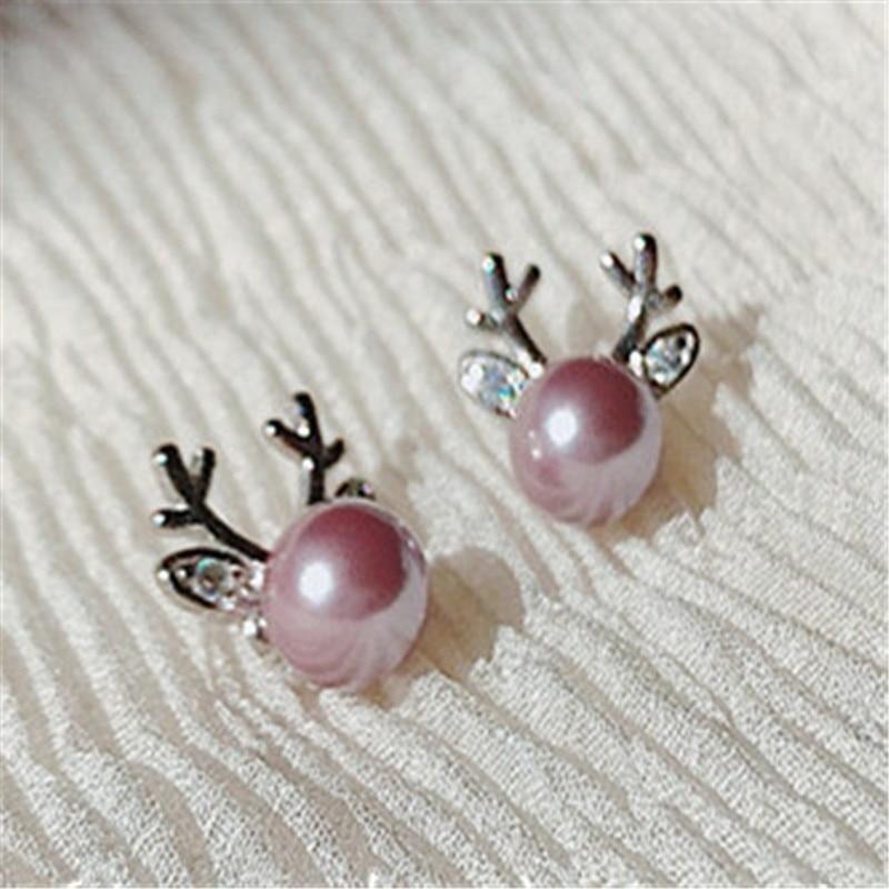 925 sterling silver Stud earrings Serve two color Fashion women earrings jewelry wholesale in Stud Earrings from Jewelry Accessories