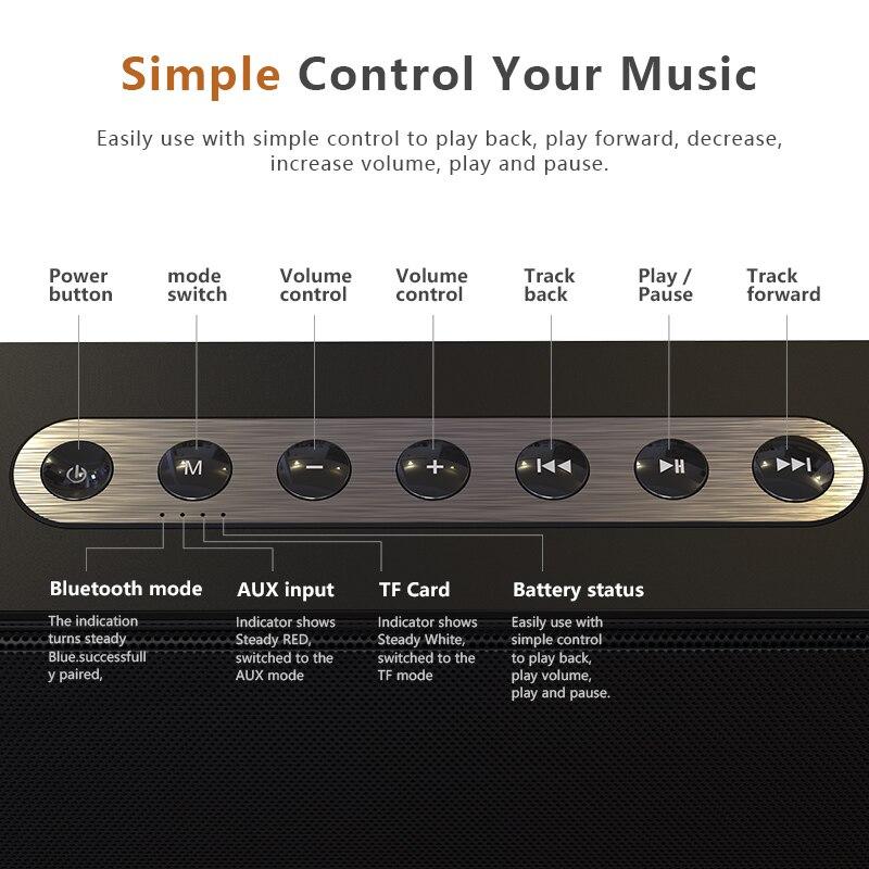 DOSS caja de resonancia XL Portátil inalámbrico Bluetooth altavoz Dual-conductor 3D estéreo audaz Bass altavoz inalámbrico TF AUX USB - 6