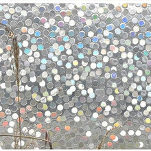 3D Round pattern window foil film Static Cling toning Stained bathroom glass stickers furniture PVC Decorative vinyl