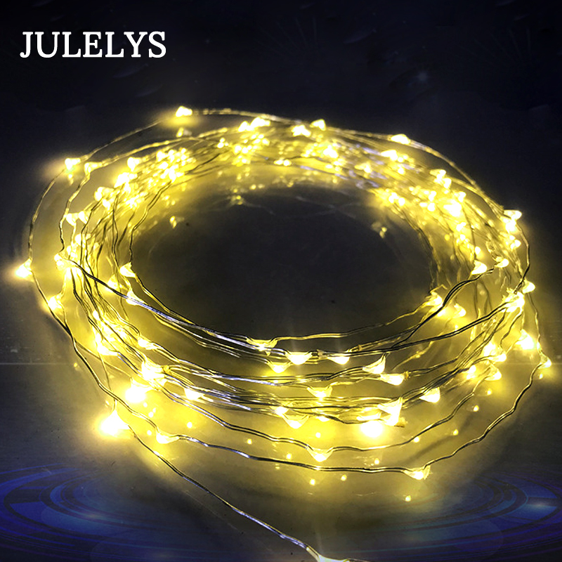 3M 30 Bulbs Battery Copper Wire Lights DIY Christmas Garland LED String Lights Decoration For Holiday Fairy Lights Outdoor