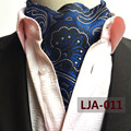 British Style Man Fashion Ascot Wedding Party Stylish Blue Paisley Collar Neckerchief for Gift