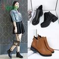 Alta qualidade Das Mulheres Novas de Inverno Botas de Salto Baixo do Tornozelo Botas de Moda Outono Botas Sapatos de Inverno 170210