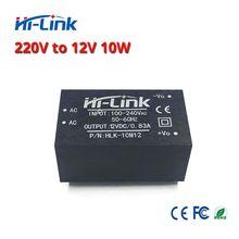 Ücretsiz kargo 220v 12V/ 10W AC DC izole anahtarlama aşağı adım güç kaynağı modülü AC DC dönüştürücü HLK 10M12
