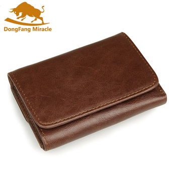 Nouveauté en cuir véritable hommes portefeuilles rétro de haute qualité Multi carte court portefeuille hommes en cuir de vache RFID porte-carte