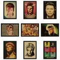 David Bowie Retro Vintage rock band music Guitarra Fosco Kraft Papel Antigo Cartaz Adesivo de Parede Casa Decora