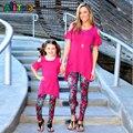 Мать и дочь одежда мама мама мама мама мама мама дочь брюки Капри Леггинсы Семьи Соответствующие Наряды про 2017 Новый