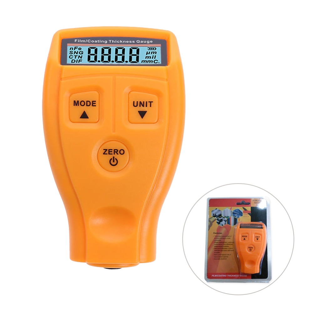 GM200 Coating Painting Thickness Gauge Tester Ultrasonic Film Mini Car Paint Test Coating Measure Thickness Gauge Russian manual