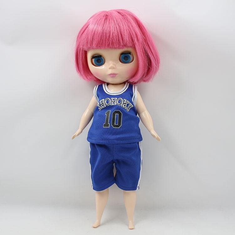 Neo Blythe Doll Plump Doll Basketball Uniform 2