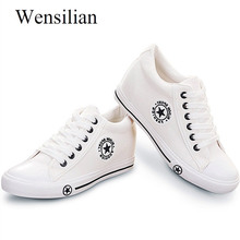 Vulcanize shoes wedge sneakers Women Trainers Summer Canvas