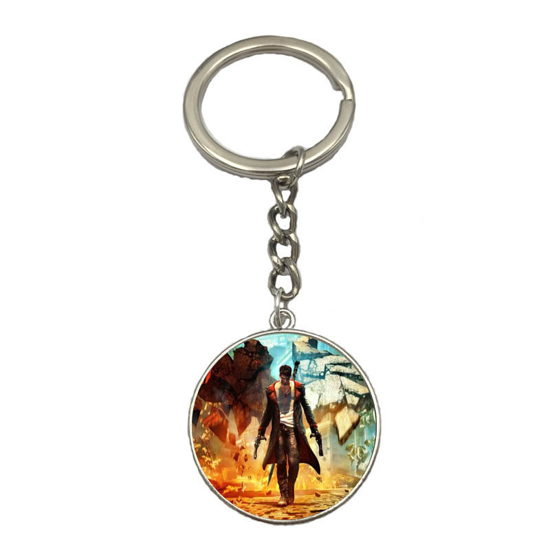5style Devil May Cry keychain Metal Keyring Pendant Figure toy