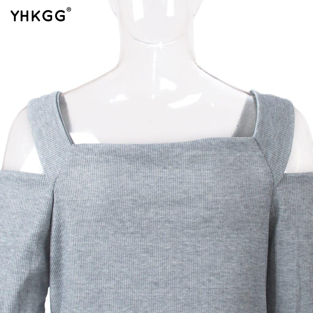 69cde4541b Otoño Invierno moda mujer suéter Jersey vestido con mangas largas bodycon  estiramiento duro diario partido señora Girl en Vestidos de La ropa de las  mujeres ...