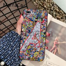 MaiYaCa For iphone 7 6 X Case Marvel Avengers Heros Comics Collage Phone Case For iphone 6 6s 6plus 7 8 plus 5 5s 5C XS XR XSMAX