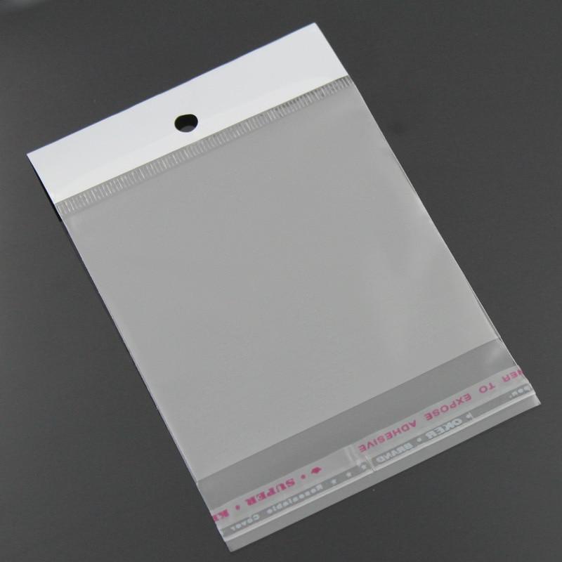 Doreen Box Plastic Self-Seal Bags Rectangle W/ Hang Hole(Usable Space: 9x7cm) 14cm x 7cm(5 4/8x 2 6/8), 100 PCs 2017 new