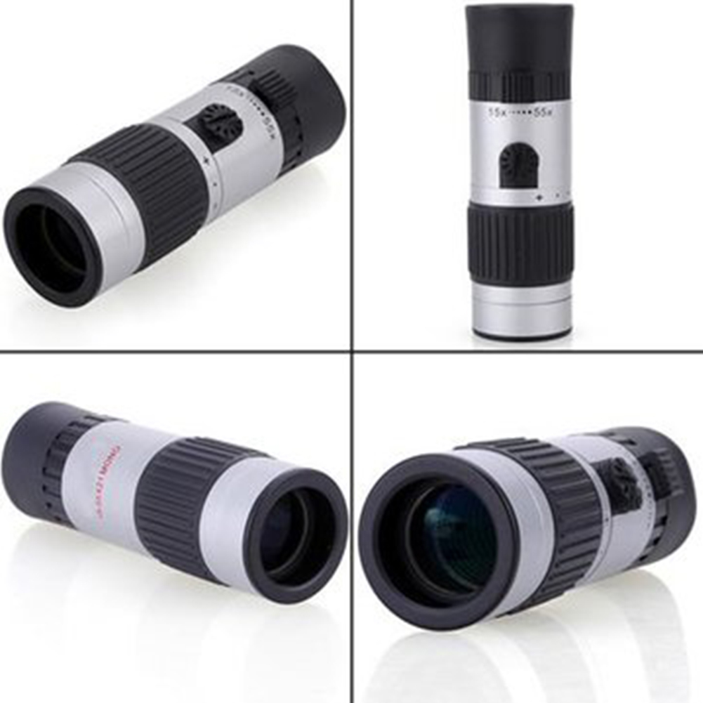 Portable 15 55x21 Zoom Monoculars Pocket Adjustable Monocular Telescope For Hiking Camping Golf Scope Birdwatching