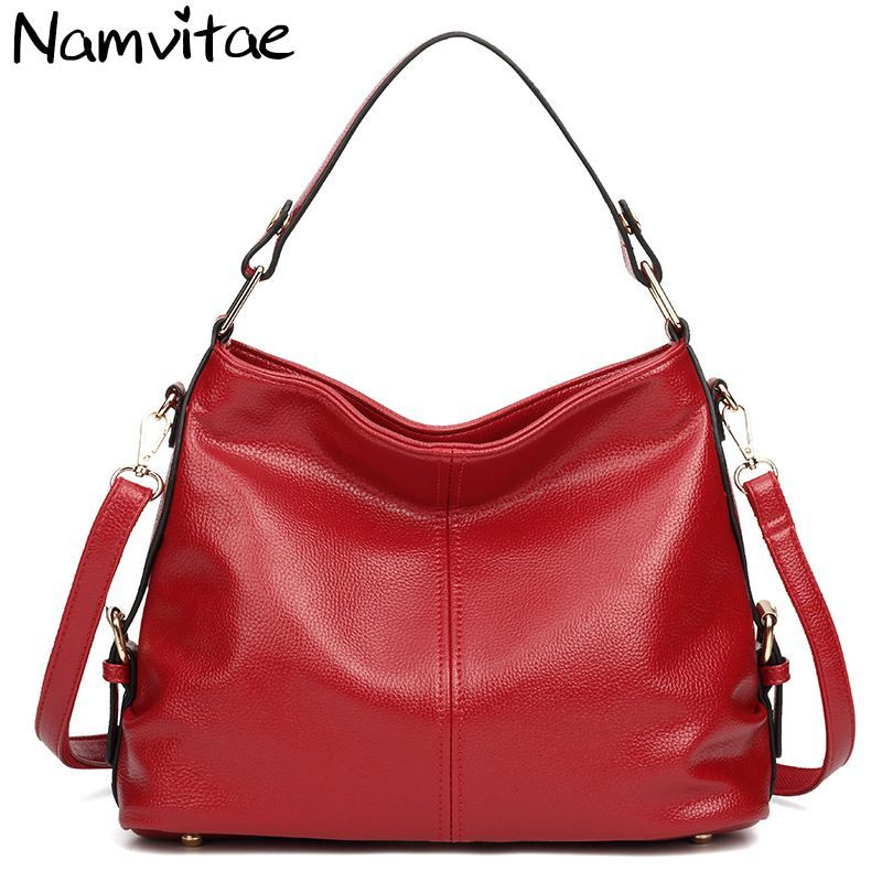 Namvitae Genuine Leather Women Handbags Fashion Leather Tote Shoulder Bag bolsas femininas Large Capacity Casual Women Bags 2017 new classic casual scrub tote lady genuine leather handbags popular women fashion shoulder bags easy matching bolsas qn027