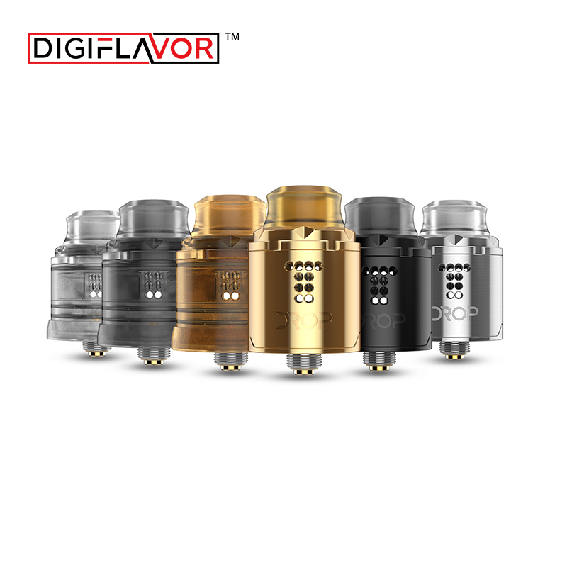 Original Digiflavor Drop Solo RDA single coil 22mm drop rda with two caps standard 510 and BF Squonk 510 pin deep base