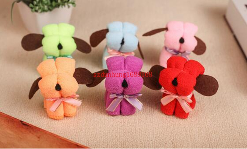 Free Shipping  Supplies Product Size : 20 * 20CM Festivals Small Dog Puppy Towel Gift Ideas Birthday Gift