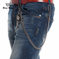 Thick Metal Gun Skull Sword Wallet Key Chain 8mm 60CM Long /140g Single Cuban Link Punk Rock Jeans Chain Heavy Waist Chain J48