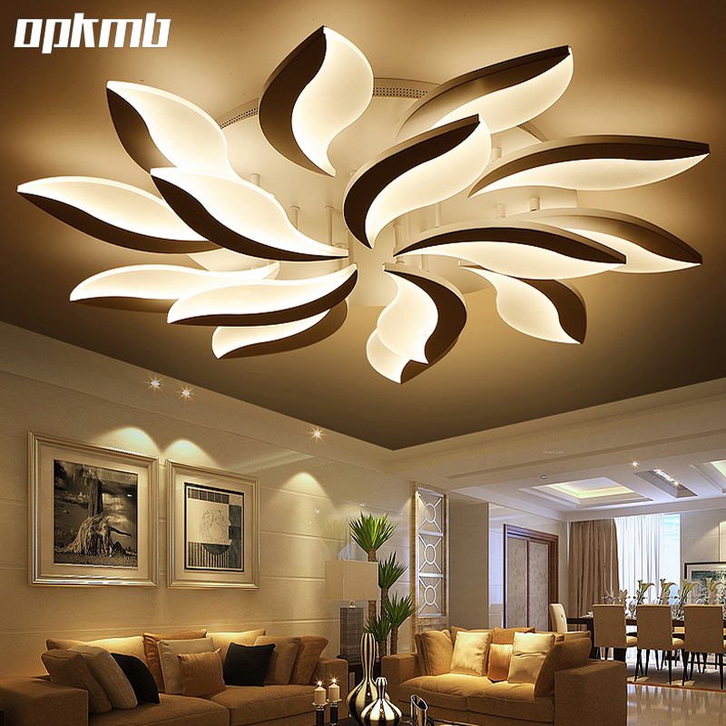 Buy new flower diy acrylic led ceiling for Modern living room ceiling lights