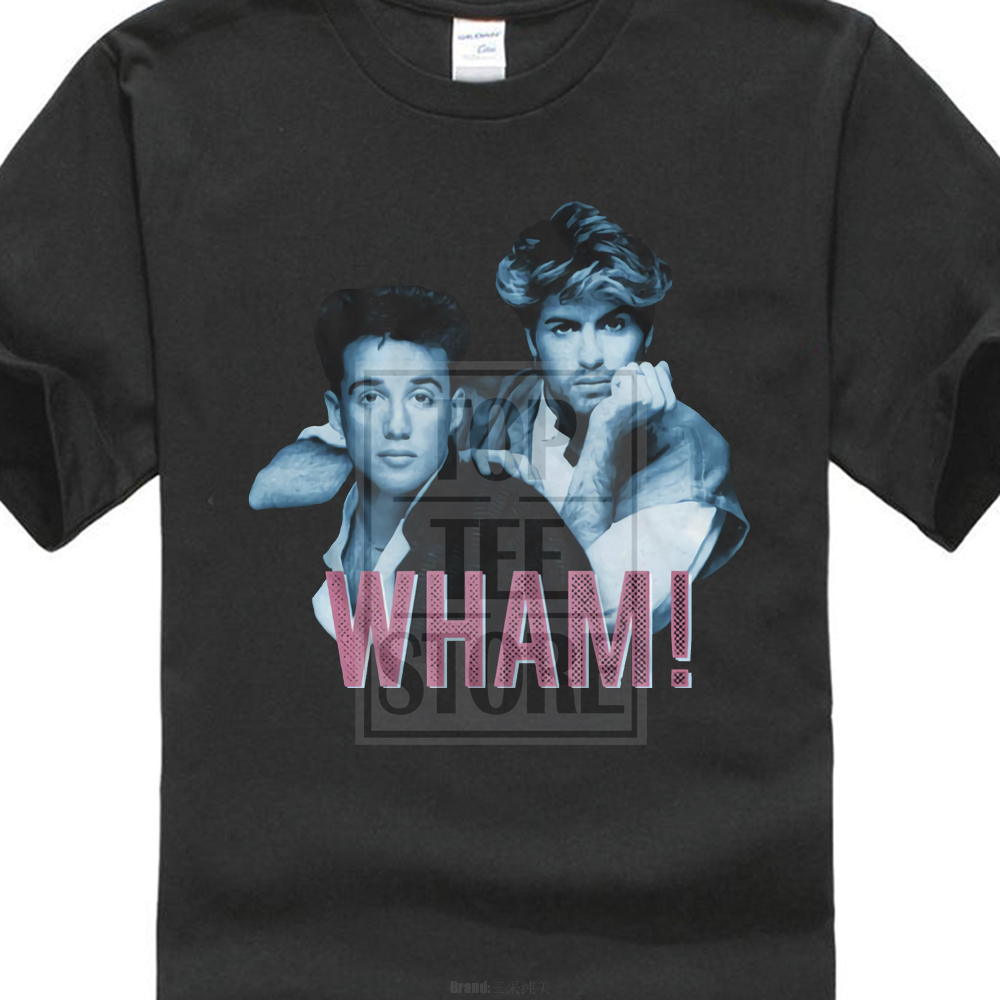 Official Mens Wham New T Shirt Blue Pink Nwt 100 Black Cotton Sizes Sm 4Xl in T Shirts from Men 39 s Clothing
