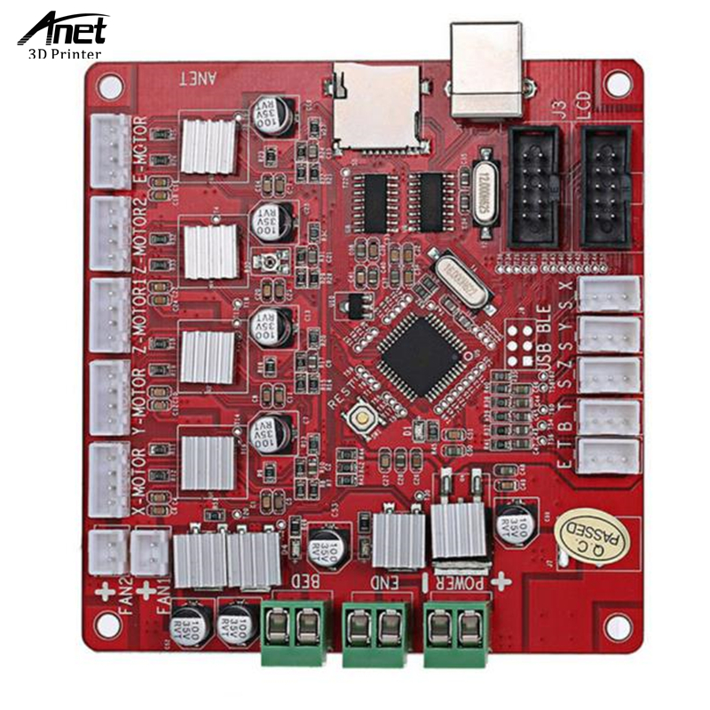 ANET Original A8 3D Printer Mainboard Send From Moscow Ship By Russian Post abs original anet 3d filament plastic for 3d printer and 3d pen many colors 1kg 340 m abs express shipping from moscow