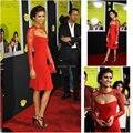Ocasión especial Red Sirena Con Encanto longitud de La Rodilla de Encaje Chaqueta 3091 S Alta calidad 2017 celebrity vestido corto