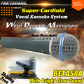 Высочайшее Качество Супер Кардиоидный Динамический Вокальный Проводной Микрофон Beta 58A Beta58A 58 Ручной Микрофон Караоке Микрофон Com Фио Microfono