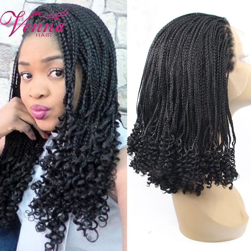 Lace front braids synthetic hair Curly Braided ...