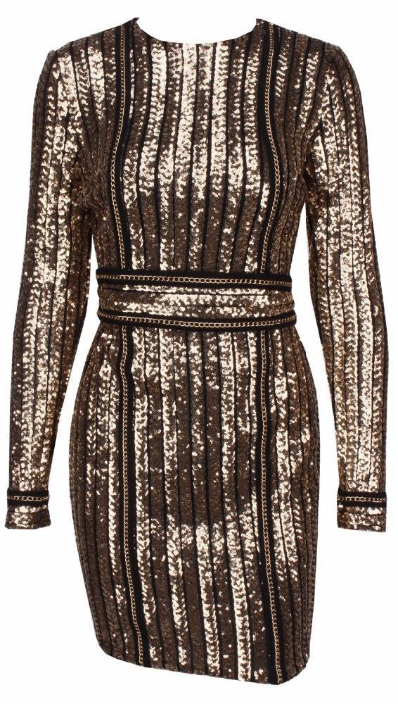Cou À Manches Partie Qj5220 Robe Sexy Bonne Sequin Qualité Moulante Club O Glitter Gaine Longues Femmes 0qYXwU
