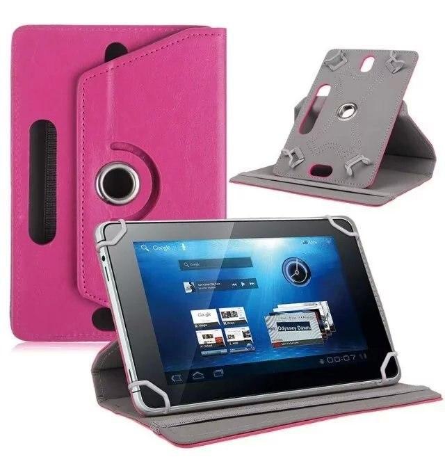 Hot universal pu cuir stand case cover rotation de 360 degrés pour 7 8 9 10.1 pouces android tablet cas pour samsung apple ipad