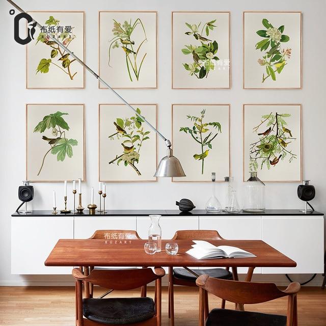 Asiatische Bilder Auf Leinwand vögel und blume wohnzimmer decor kunst leinwand amerikanische stil
