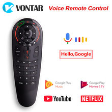 Mini teclado inalámbrico con control remoto por voz G30 para Android TV Box H96 MAX T9 HK1 Mini X96 MAX X2 T95(China)