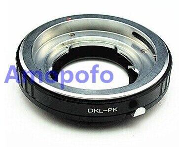 Amopofo dkl-pk adaptateur, voigtlander retina dkl lens pour pour pentax pk caméra k5 k7 k110d